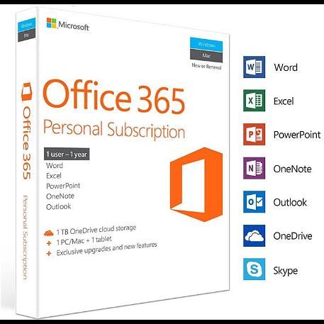 Microsoft Office 365 Personal PC/MAC- 1 eszköz / 1 év