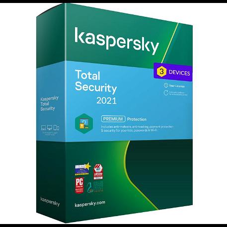 Kaspersky Total Security - 3 eszköz / 1 év