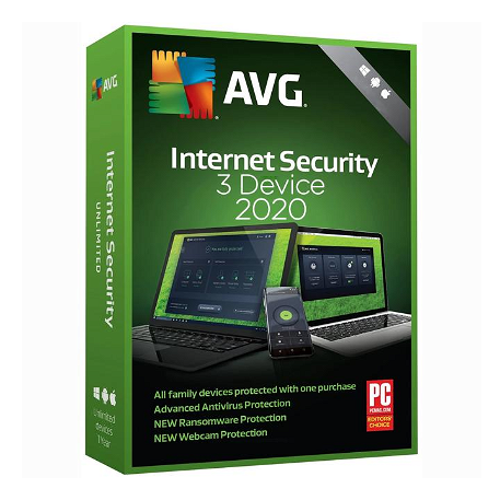 AVG Internet Security - 3 eszköz / 1 év